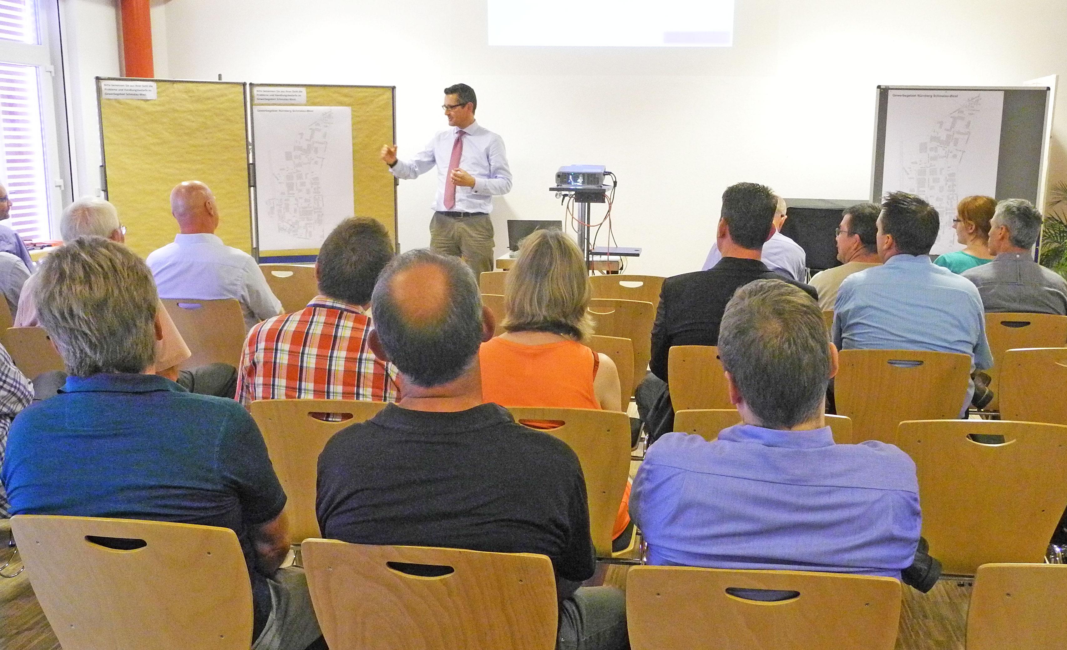 Gewerbegebietskonferenz im Nürnberger Gewerbegebiet Schmalau-West