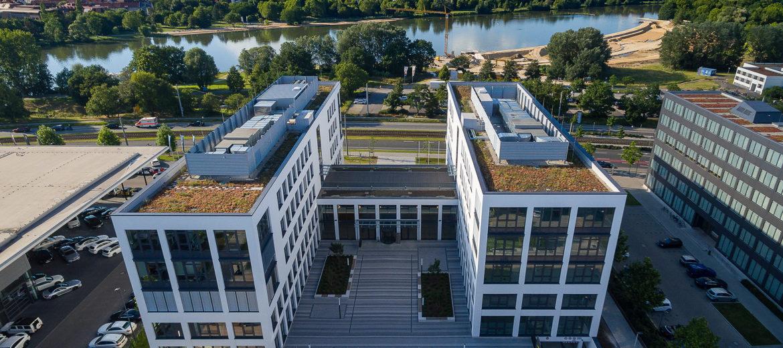 Das Milchhofareal am Wöhrder See: Einst Klassiker der Industriekultur, heute modernes Gewerbegebiet