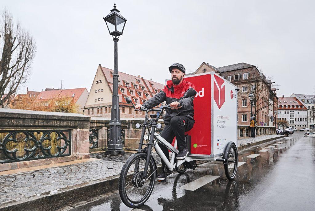 Lasten-E-Bike in Nürnbergs Altstadt