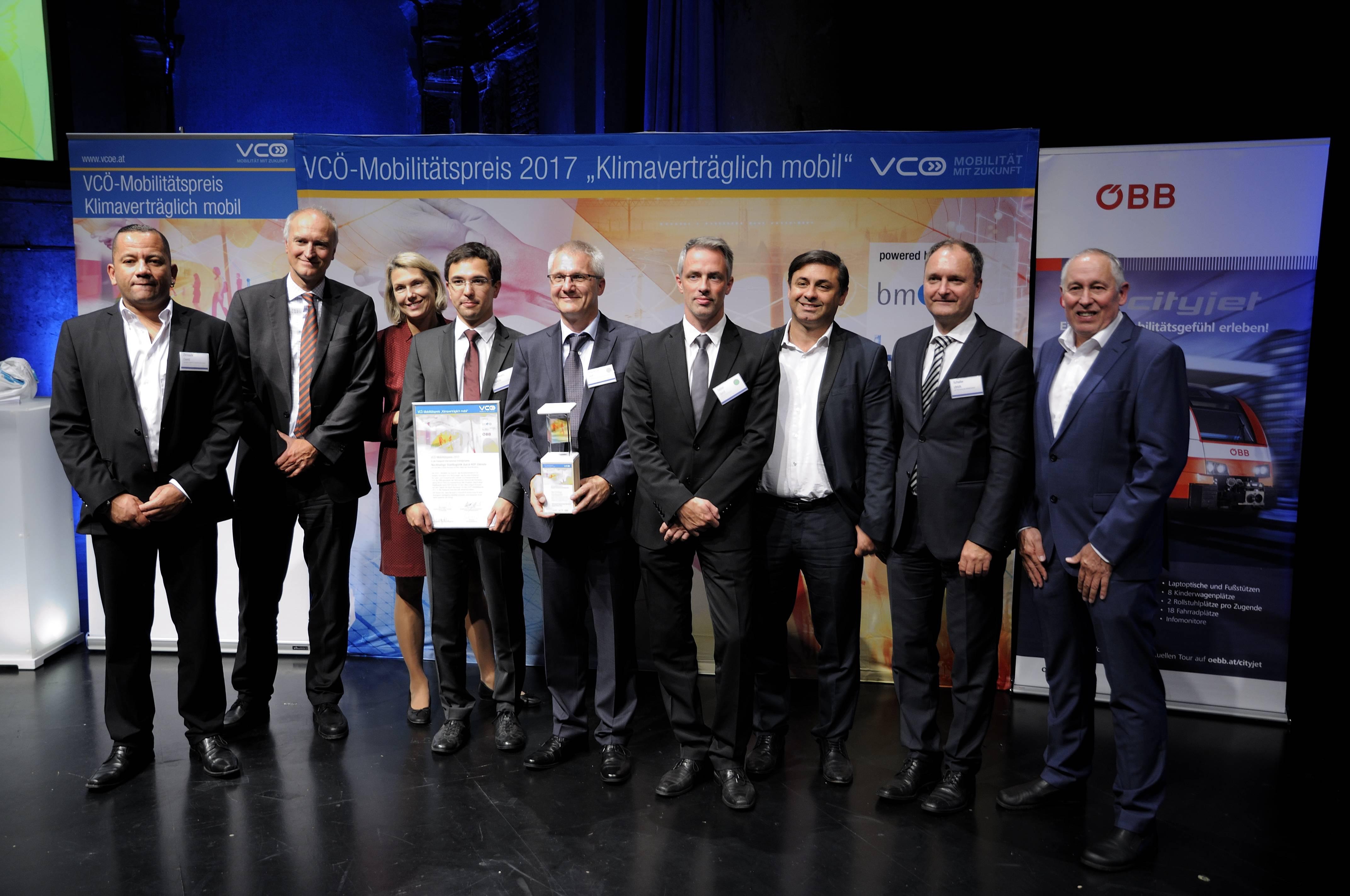 Citylogistik-Projekt Nürnberg beim VCÖ Möbilitätspreis 2017